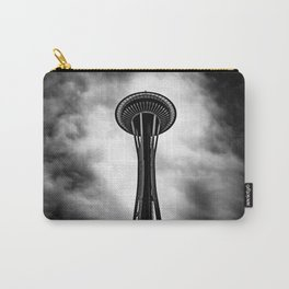 Space Needle Black and white Carry-All Pouch