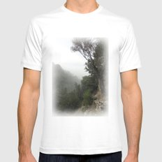 Canyon MEDIUM White Mens Fitted Tee