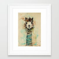 lama Framed Art Prints featuring Lama by Anastasia Tayurskaya