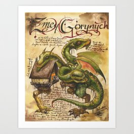 ZmeyGorynych from the Field Guide to Dragons Art Print