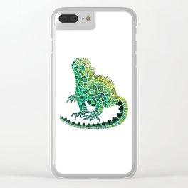 Iguana Of Spades Clear iPhone Case