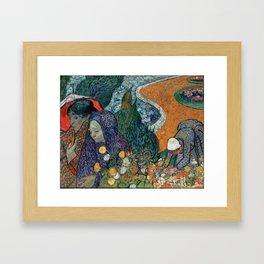Memory of the Garden at Etten (Ladies of Arles) Framed Art Print