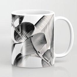 Ficus Elastica Black Gray White Vibes #1 #foliage #decor #art #society6 Coffee Mug