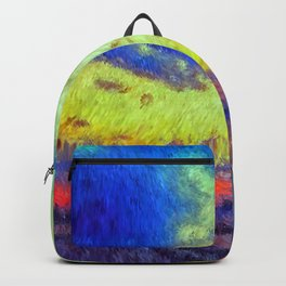colorful sunset impressionist painting Backpack
