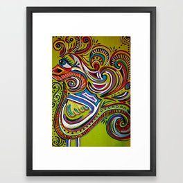 no beak bird Framed Art Print