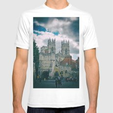 York Minster and Bootham Bar White MEDIUM Mens Fitted Tee