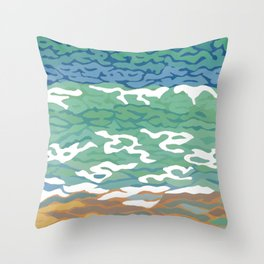 Cable Shore, Cable Beach, Broome, Western Australia Throw Pillow