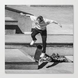 Go Skate Square Canvas Print