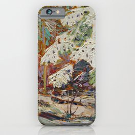Tom Thomson Snow in the Woods Canadian Landscape Artist iPhone Case