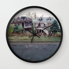 Abandoned Houses Wall Clock