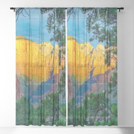 Zion National Park Utah Southwestern Landscape Desert Canyon Sheer Curtain