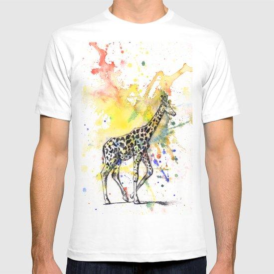 Giraffe in Splash of Color T-shirt