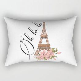 Oh La La Eiffel Tower France Rectangular Pillow