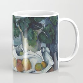 Still Life with Apples and a Pot of Primroses Coffee Mug