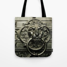 Lion Door Tote Bag
