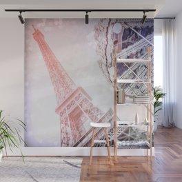 Shimmering Pink Paris Memories Wall Mural