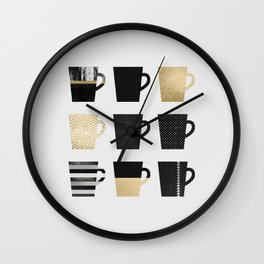 Coffee Mugs Wall Clock