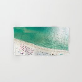 Helicopter View of Miami Beach Hand & Bath Towel