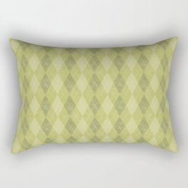 Textured Argyle in Apple, Avocado and Olive Greens Rectangular Pillow