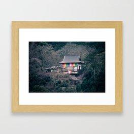 Temple on the mountainside Framed Art Print