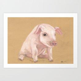 Lil Pete from Longbottom Farm Art Print