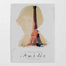 Amelie, minimalist movie poster, french film playbill, the fabulous life of Amélie Poulain, Poster