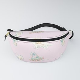 Vintage Baby Room Repeat in Light Pink Fanny Pack
