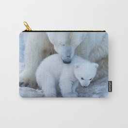 Polar Bear Mother and Cub portrait. Carry-All Pouch