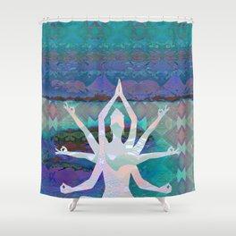 Goddess Geometric Tapestry Print Shower Curtain