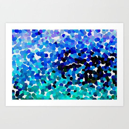 FANTASY-FOREVER IN BLUE DREAMS Art Print
