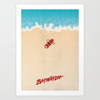Baywatch Alternative Poster Art Print