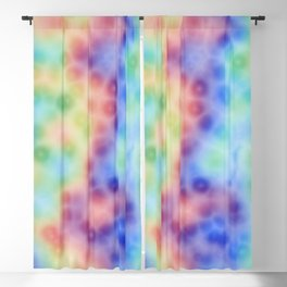 Rainbow Ink Blackout Curtain