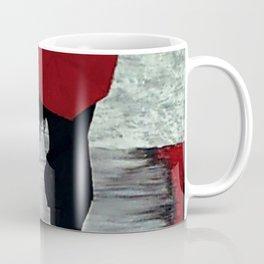 Red Autumn Rain Romance Coffee Mug