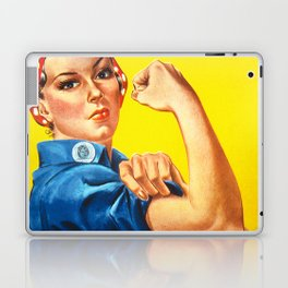 Rosie The Riveter Vintage Women Empower Women's Rights Sexual Harassment Laptop & iPad Skin