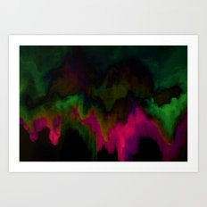 fuchsia drips Art Print