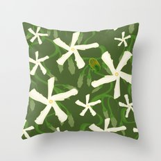 Jasmines & Junebugs Throw Pillow