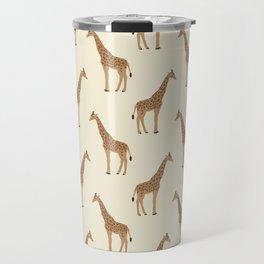 Giraffe animal minimal modern pattern basic home dorm decor nursery safari patterns Travel Mug