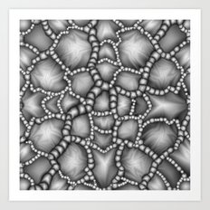 Chaotic Clusters Macro Abstract Art Print