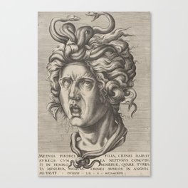 Medusa,16th Century Illustration Canvas Print