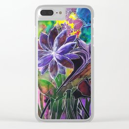Spring Garden In Bloom Clear iPhone Case