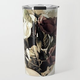 Roses in Pitcher Modern Cottage Chic Country Still Life A450 Travel Mug