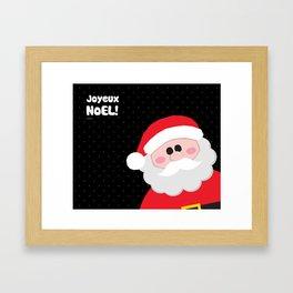 Joyeux Noel - Santa Framed Art Print