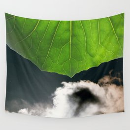 Stormy Sky under a leaf Wall Tapestry