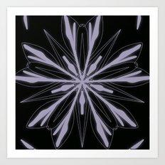 White Mandala Art Print