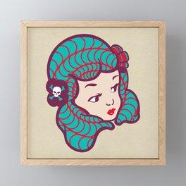 Girl Power Dynamite Laser Beam Framed Mini Art Print
