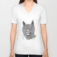 hollywood V-neck T-shirts featuring Hollywood Smile by Peerless Designs Art