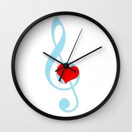 Music is love Wall Clock