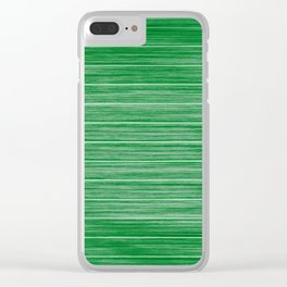 Bright Pastel Green Wood Beach House Cladding Clear iPhone Case