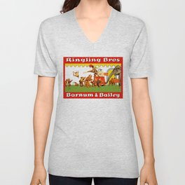 Retro Circus Poster - Monkeys Unisex V-Neck
