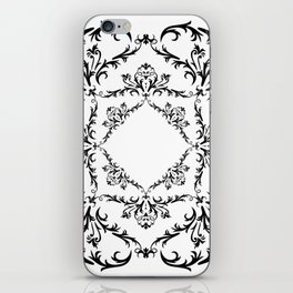 Abstract black ornament iPhone Skin